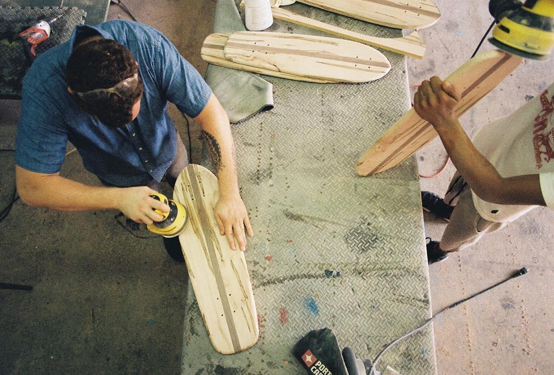 Hand made, hand finished. #handmadeskateboard #Nashville