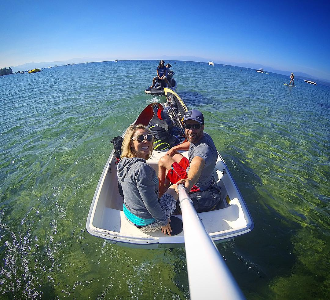 Wake hunters looking to get #FS44pitted!  Always an adventure with @mellee07, @theduncan775 & @shawnakorgan, a #SundayFunDay or so ago on #LakeTahoe!! @gopro   @gopole   #SmilesForMiles   #TeamCenturionBoats   @inlandsurfer   #ChoosePositivityNow.com