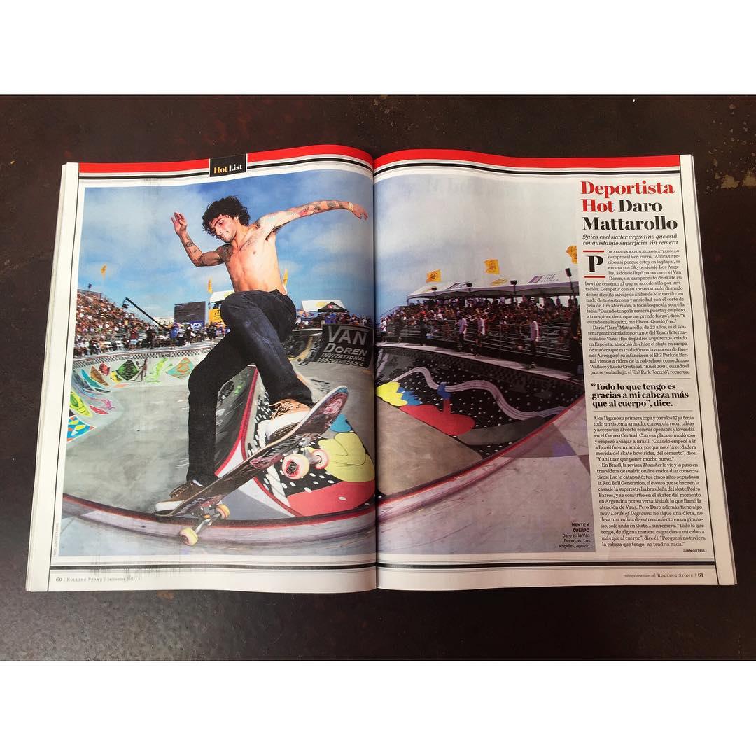 Rolling Stone de este mes: @dariomattarollo deportista hot