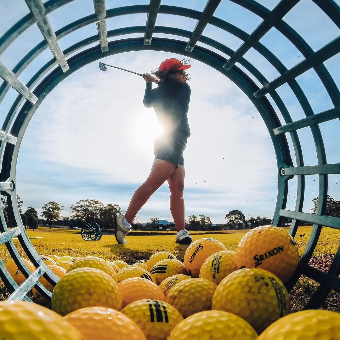 Photo of the Day! No days off for @tahnia_rav as she trains for the upcoming collegiate #golf season. Show us how you train by clicking the link in our profile. #goprogirl