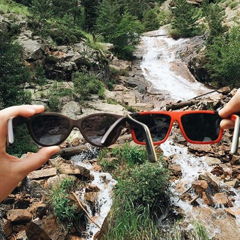 Hers + His in Colorado by @captureyouradventure Frames pictured: The McCall Wood Stained & The Cosmo Skate Rasta #NatureOfProof #iwantproof