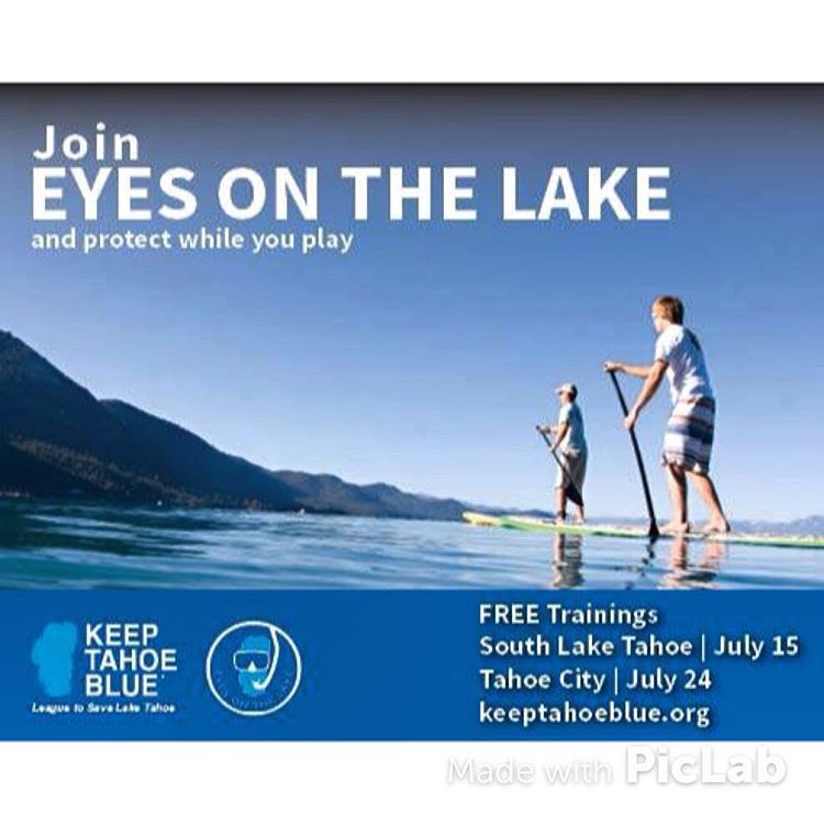 Want to protect Lake Tahoe while you play? Join us for a free Eyes of the Lake training to learn how to identify and report aquatic invasive species while you recreate on the water. Coming up: July 15 in South Lake Tahoe and July 24 in Tahoe City....