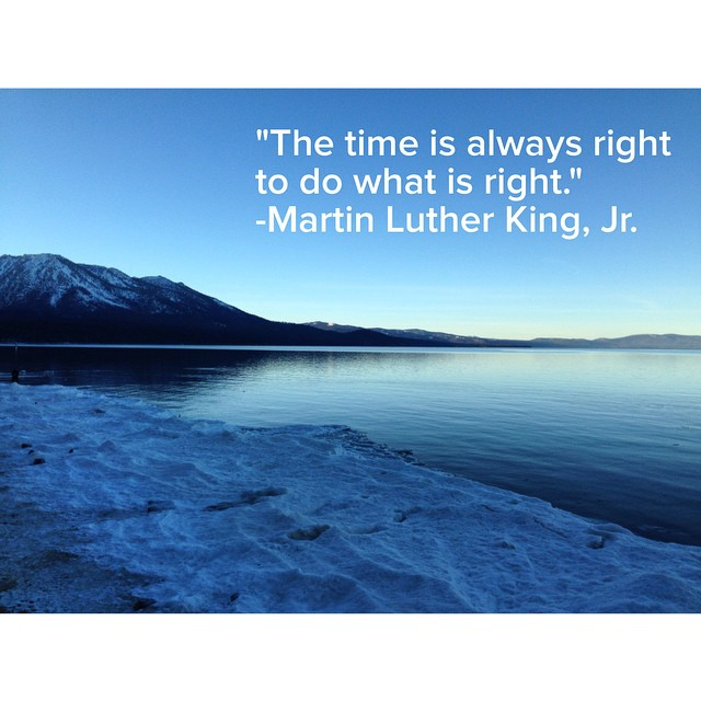 We couldn't agree more! #keeptahoeblue #mlk #happybirthdaymlk
