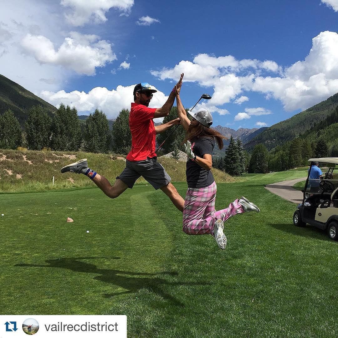 #Repost from @vailrecdistrict. High Five for #charitygolf! @charles_townsend_photo @bethjpappas @hi5sfoundation  #vailrecdistrict #highfivesfoundation