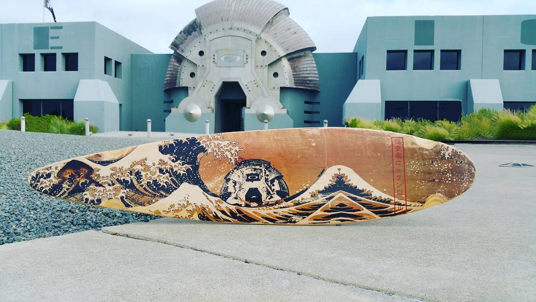Sex, Drugs, and Rock & Roll...who knew HR was that cool?!? #greatwave #longboard #customlongboard #oakley #seelyforpresident #liveyours #thestokeishigh