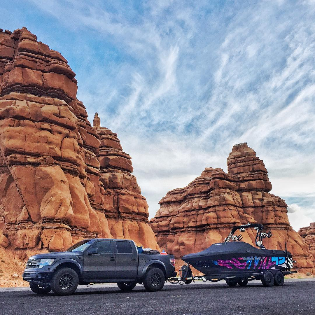 Quick pit stop in Goblin Valley (Utah) on our way home to Park City from Lake Powell. #nogoblinswereharmed #FordRaptor #MasterCraft2015