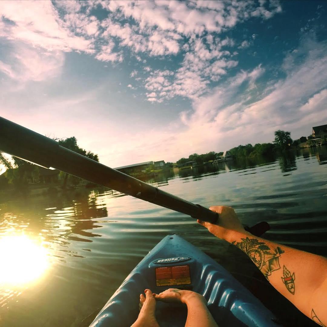 Evening paddles with @tiffinyepiphany #LiveLifeOutside