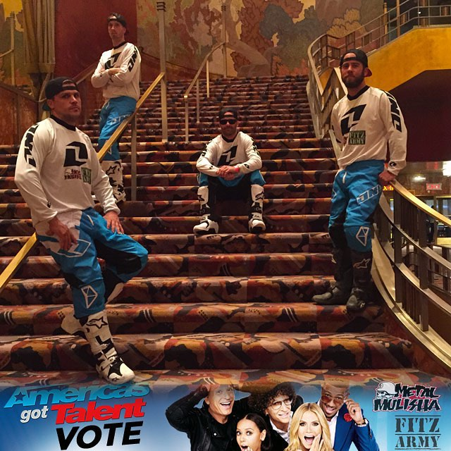 Link to #VOTE in our bio for the fellas @JFitzo @JulsDuss @GarlandFMX @CantrellFMX on @NBCAGT and thanks for the support