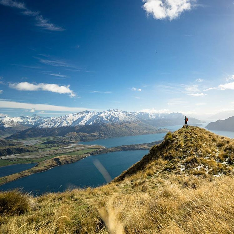 Little person. Big New Zealand landscape. #GetOutStayOut  Photo: @chrisburkard