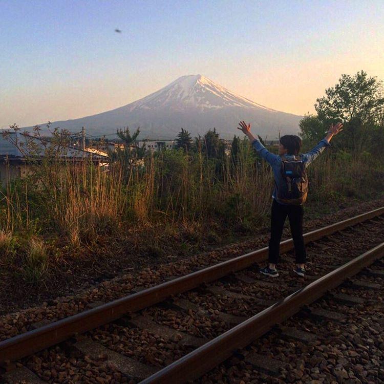 Mt. Fuji on the perfect portrait.