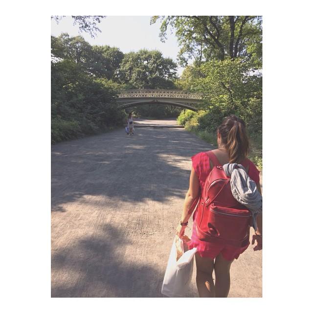 Grandes viajes, grandes mochilas / #centralpark #nyc /