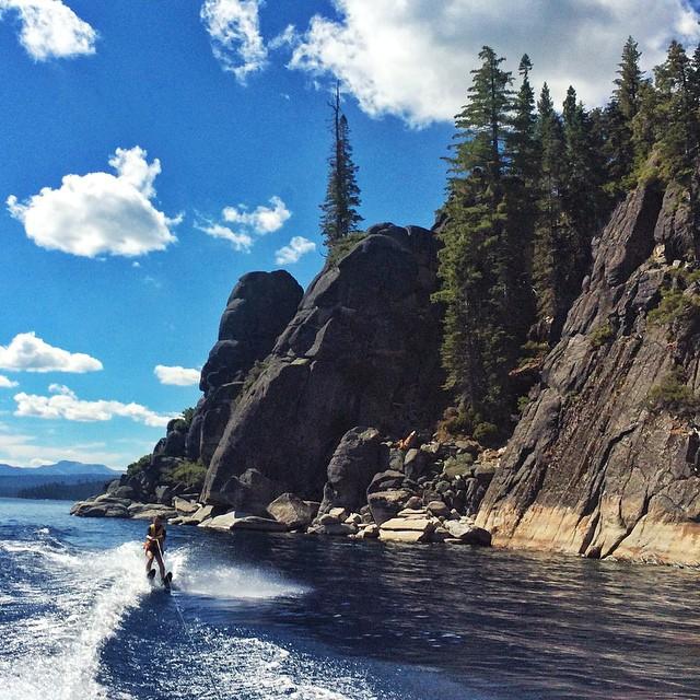 #waterskiing past Rooster Rock last week was freakish amazing! #laketahoe life is kicking ass this summer. #bestrong #dnb @epicbar #wildandfree #free @neversummerindustries @oakleywomen @dakine @savageswimwear @stcrossfit @kirkwoodmtn @avalon7