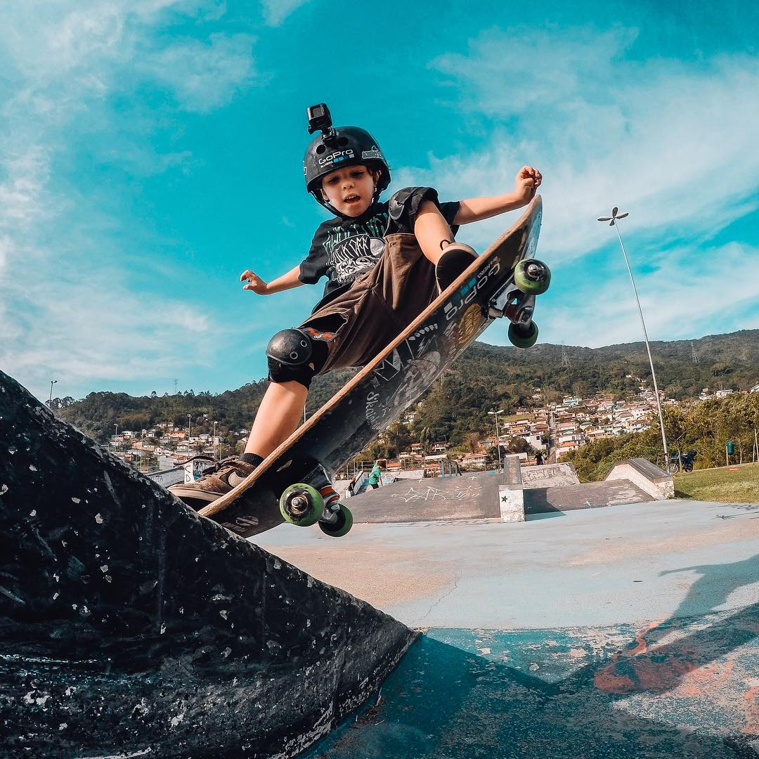 Photo of the Day! Skating runs in the family for pro skater @igorlag3, as his son @ian_kids shreds a park. Share your best moments with us at gopro.com/submit #gopro