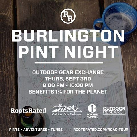 Join us for a Pint Night this Thursday, Sept 3rd in Burlington, VT from 8-10pm. Enjoy live music, local brews, and good company. A suggested $5 donation gets you a sweet pint glass and your first fill. All proceeds benefit @1percentftp! Come learn...
