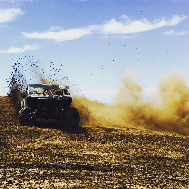 Eating #dirt. Not me the SR1. New track layout is sick. Preparation isn't one thing it's everything. #Deegan38 #SR1 @wellerracing @lucasoiloffroad #offroad video coming soon.