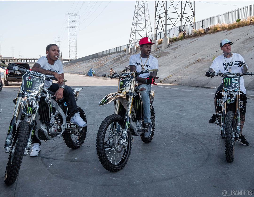 Six-time #XGames gold medalist @twitchthis88 tore up the LA River with chart-topping rapper @meekmill and @chino_mmg! (