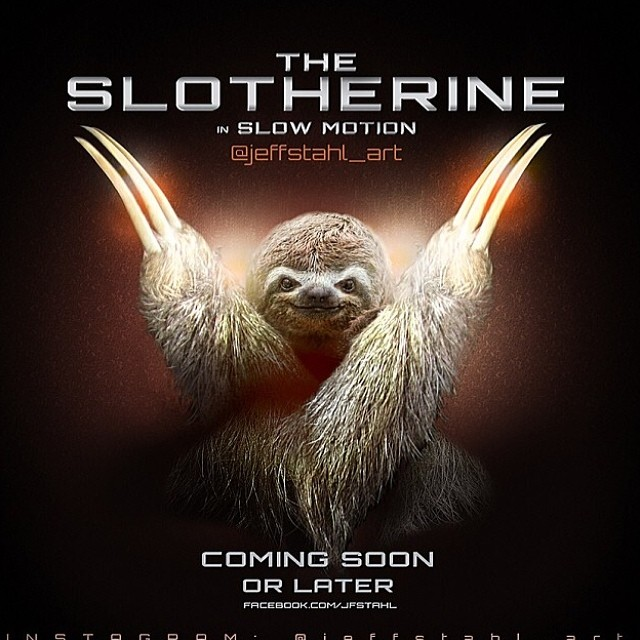 #slothsunday #cuipo #slowmotion #slowitdown#relax #takereasy @jeffstahl_art