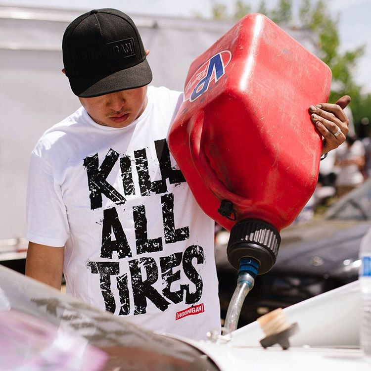 Stonecold @geoffstoneback in our latest #KillAllTires tee, find it now on #HooniganDOTcom.