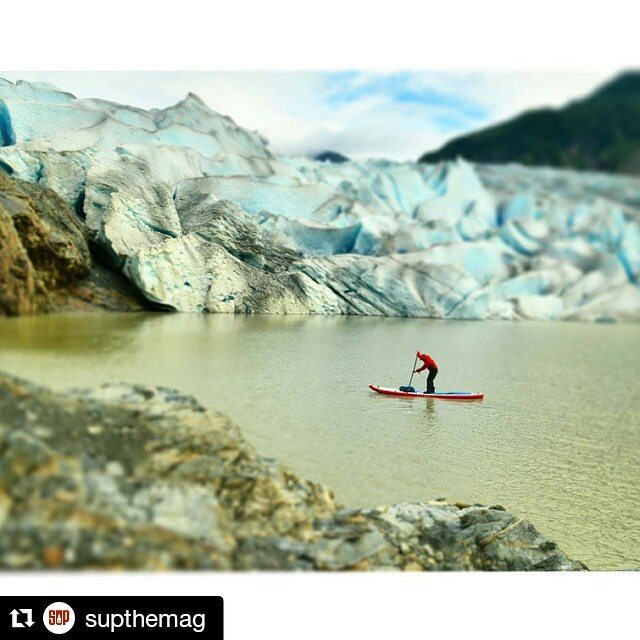 #Repost from @supthemag ・・・ Hala Gear athlete @suppaul_pics somewhere near #Juneau during a spontaneous SUP solo in Alaska's #InsidePassage. Stay tuned for more of expedition paddler Paul Clark's full journey.