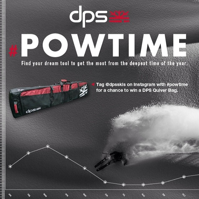 The #dpsskis #powtime event is upon us... Find your dream tool to get the most from the deepest time of the year. In addition, from now until April 15 tag @dpsskis on Instragram with #powtime for a chance to win a DPS Quiver Bag to accompany you on...