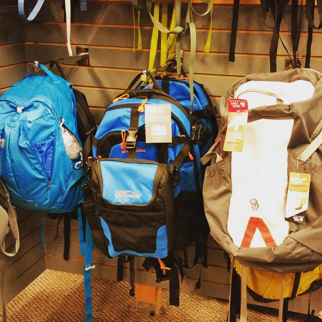 Here is our Cascade Backpack at Tahoe Sports Ltd.  #LaborDay is almost here so go stop by and check it out! #getoutside #adventure #takeittothebeach #takeittothetrail #laketahoe #backpacks #coolers #graniterocx