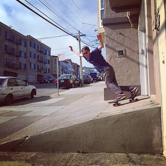 Team rider Chad Lybrand--@ragnars_world  San Francisco driveway slashing!  #chadlybrand #trannydactyl #bonzing #sanfrancisco #california