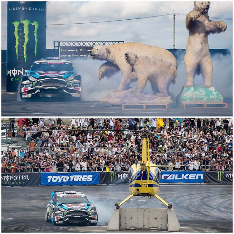 "#TBT to 2014 when I went to one of my favorite countries in the world - Japan - courtesy of @MonsterEnergy for the ""Ken Block's Nagoya Experience"". It was really fun driving alongside a lot of the guys from the D1 Championship (Japan's premier drift..."