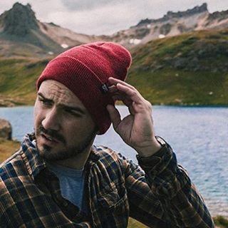 @short_stache x @kylepanis x Grinder beanie x mountain lake // #EverydayEquipment #pinebrand