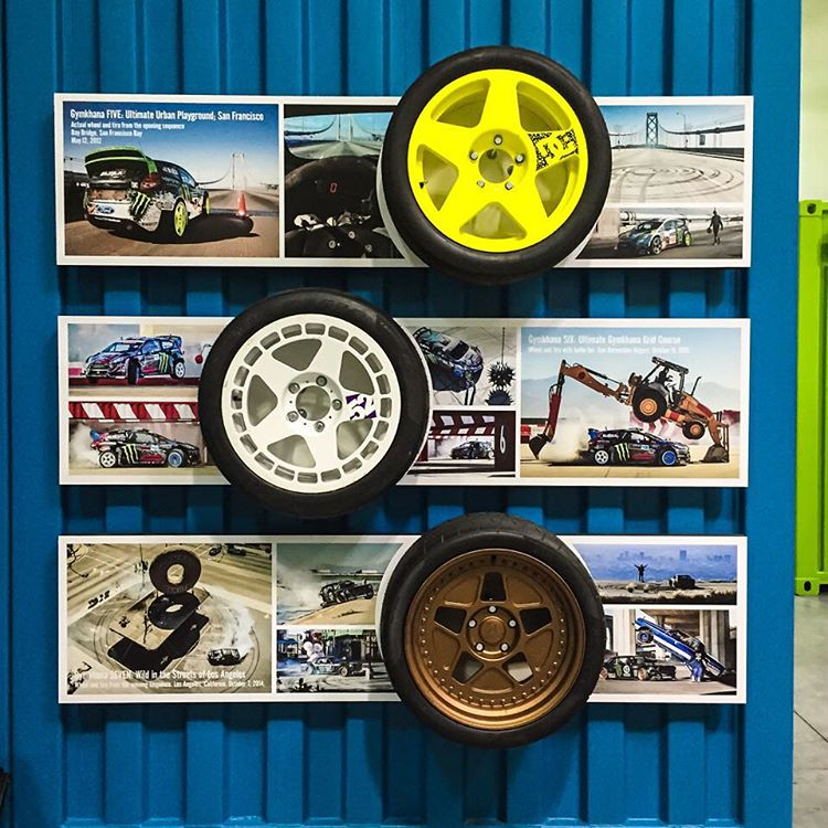 One of the recent art updates to the #HRD_HQ is an addition to the Gymkhana@fifteen52 wheel display wall. All of these are actual takeoffs from the filming of Gymkhana FIVE, SIX, and SEVEN videos. Really stoked on how this came out - looks dope!...