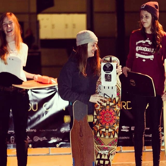 Congrats to these three amazing ladies for wining the 'So you think you can longboard dance?' contest this past weekend in #TheNetherlands! 1. Deborah Kaser 2. Melanie Golz 3. @femkebosma Big ups for Spots N Locals for the photo and putting this event...
