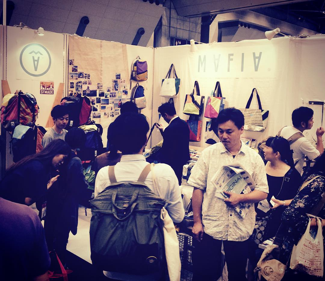 That's a wrap // thanks to all the retailers who came to check @mafiabags_jp at Gift Show. Soon our bags will be sold in shops all around Japan! #Arigato #fromsailstobags #madeforlife