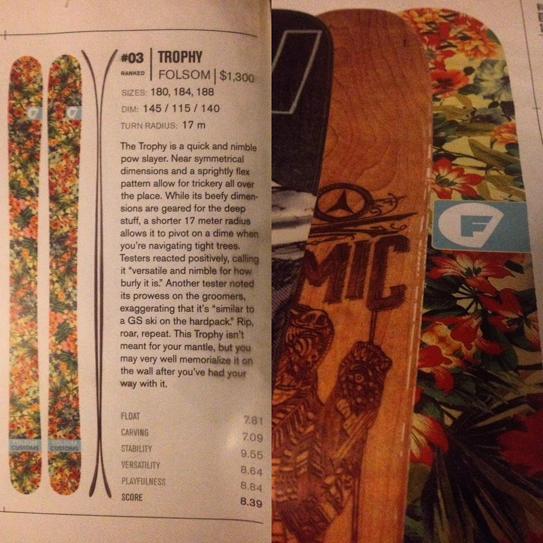 Our Trophy took the number 3 spot for 115+mm freestyle skis in @freeskiermagazine buyers guide. Go ahead buy yourself some flowers. Available on @backcountrycom very soon. #winning #tropical