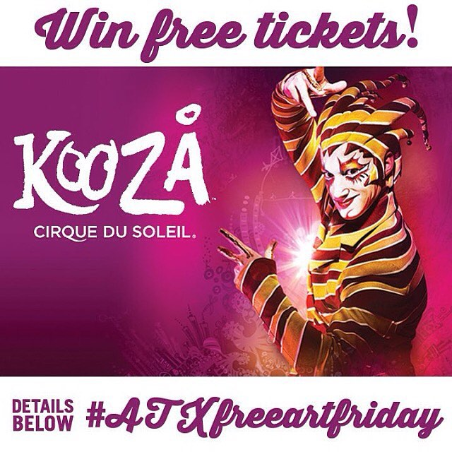 Happy #atxfreeartfriday Austin!! • • Today is the last day that we are giving you the chance to win tickets!  Spratx has partnered with @cirquedusoleil to bring you a chance to win 2 tickets to the #KOOZA event Sept. 13!! • • The last 2 customized...