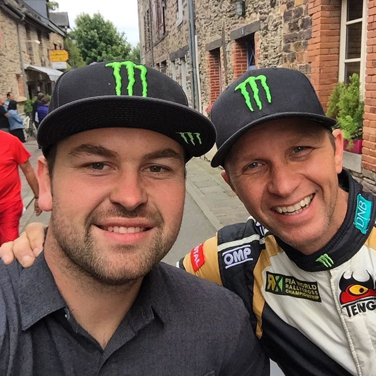 In France for a romantic meal with this guy @petterwrc03...........oh and a Rallycross event........we are both pushing hard this weekend to get SDRX back to the top of the Team Championship!!