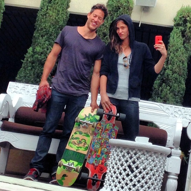 Models @miketebo and @cristacober rollin around town with the Cuipo skateboard. Each deck sold saves 1 sq meter of rainforest. Thanks for the support!!! #cuipo #saverainforest cuipo.org