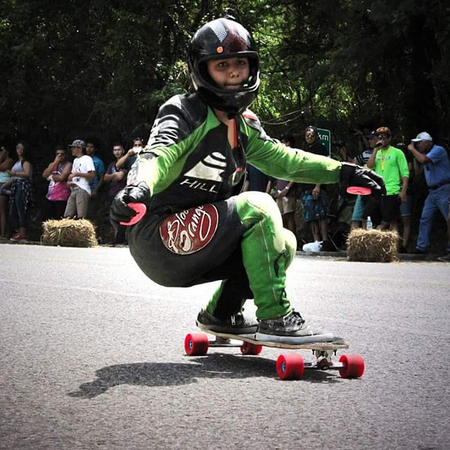@keydennise on her way to the 1rst place for the #crashboat downhill race in Puerto Rico #keepitholesom pic #RoadlessCrew