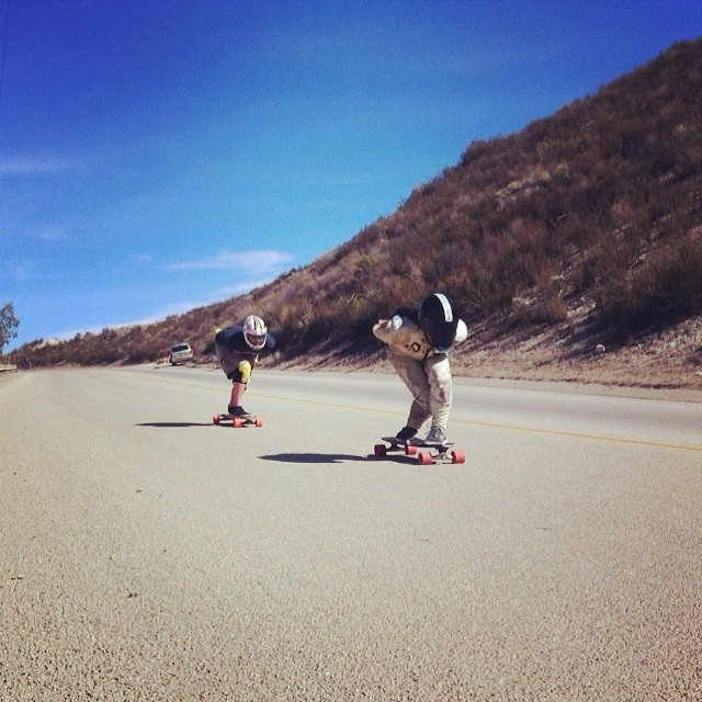 Rachel @skatebagels Bruskoff these past weekend during the #dumproad race in California. Katie Neilson @kateslynne shot #bestracename #longboardgirlscrew