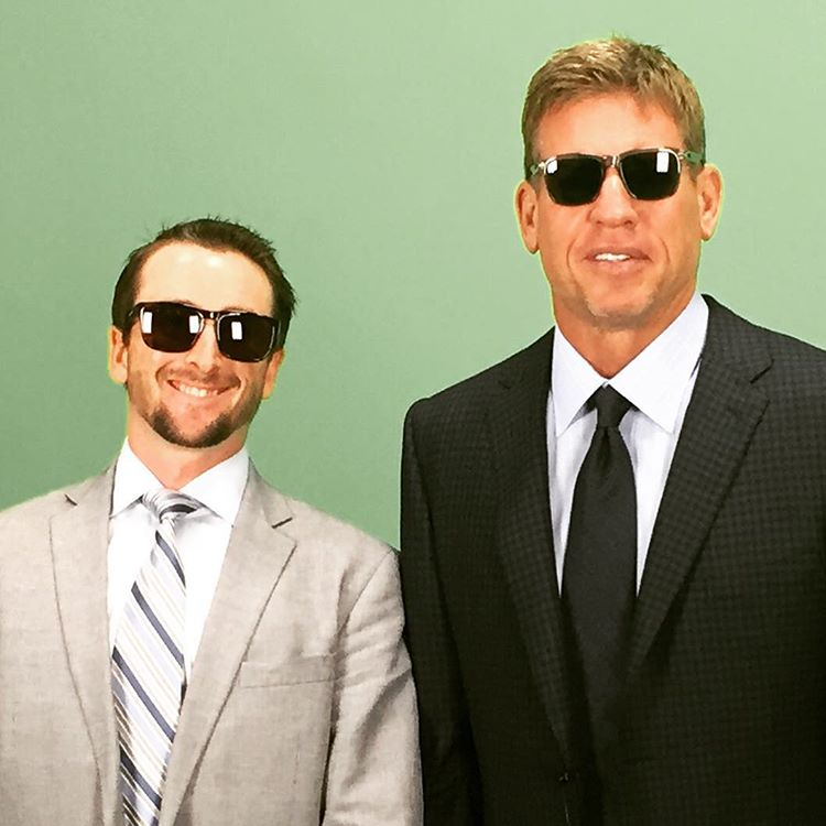 Here's a behind the scenes look with #TroyAikman and #waveborn #ceo #givesight #seeintl
