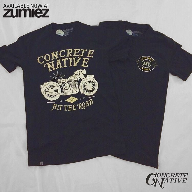 @concretenative is now available at select @zumiez locations! See the exclusive color way of the Easy Rider Tee and the Plains tee in person in: #Louisville KY, #Roseville MN, #Boston MA, #Detroit MI, #Buffalo NY, #Portland OR, #Lynnwood and...