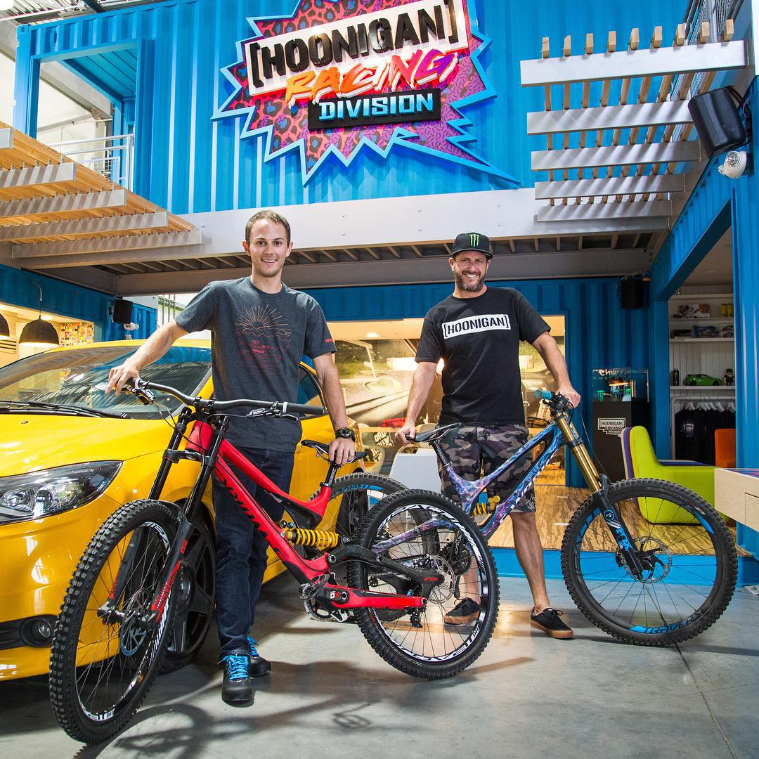 Great day yesterday with this guy, Nick Piazza (from Portland, OR) - the grand prize winner of the @IamSpecialized #RidewithBlock contest. Nick got hooked up with a crispy new Specialized helmet and riding shoes, and got to ride all day on a S-Works...
