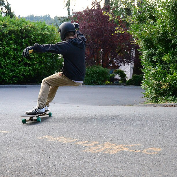 @grahams.grams flowing through a righty on the Penrose, which is now 15% off at DBlongboards.com! #longboard #longboarding #longboarder #dblongboards #goskate #skateboard #skateeveryday