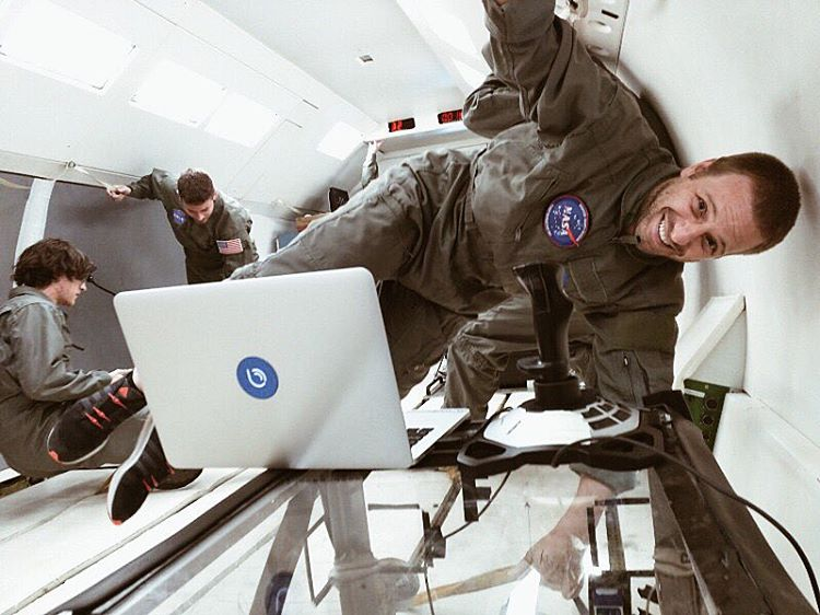 Zero gravity, zero laces, zero problems. Shout out to @bluesmart's rocket scientist, Martin Diz for bringing HICKIES up in space! Check out what they're up to via the link in our bio. #HICKIESinSpace #aLifeWithoutLaces
