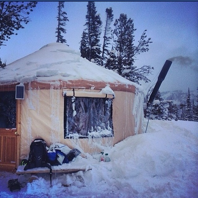 Our home deeply secluded in the pow fields. #YurtLife - iNi Team Trip to #CookeCity #Montana with @chrisrasman @shaunmmckay @insta_wood @eldulche @fokust @drewbiedooby #Yew