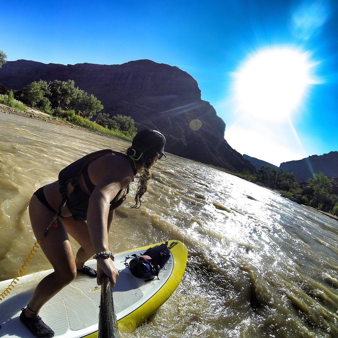 Hey all you SUP'ers! Tomorrow, Sunday the 6th we have an @outdoorwomen sup meet up on the Colorado River in Moab, Utah! Leave a message below if you're interested in attending! Details will follow.. #outdoorwomen #sup #moab #gopro #potd
