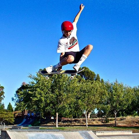 @noah_elam trimmin' the trees in NorCal. Photo: Loyal Elam #sk8 #predatorhelmets #skateboarding