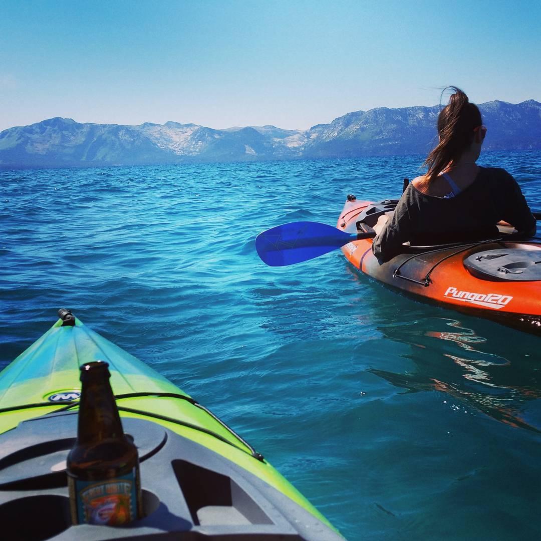Brews and paddling.  Great start to Labor Day Weekend! #LaborDay #tahoesouth #laketahoe #getoutside #kayak #brews #whatsyour20 #graniterocx