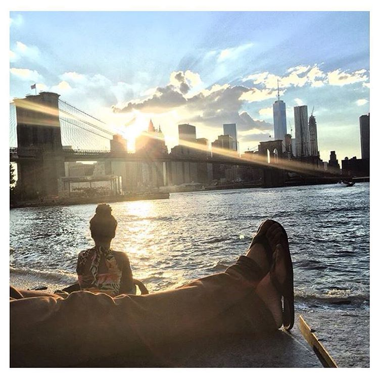 """Long walk to enjoy last night's sunset over the city."" Regram via @beaucaillouette"