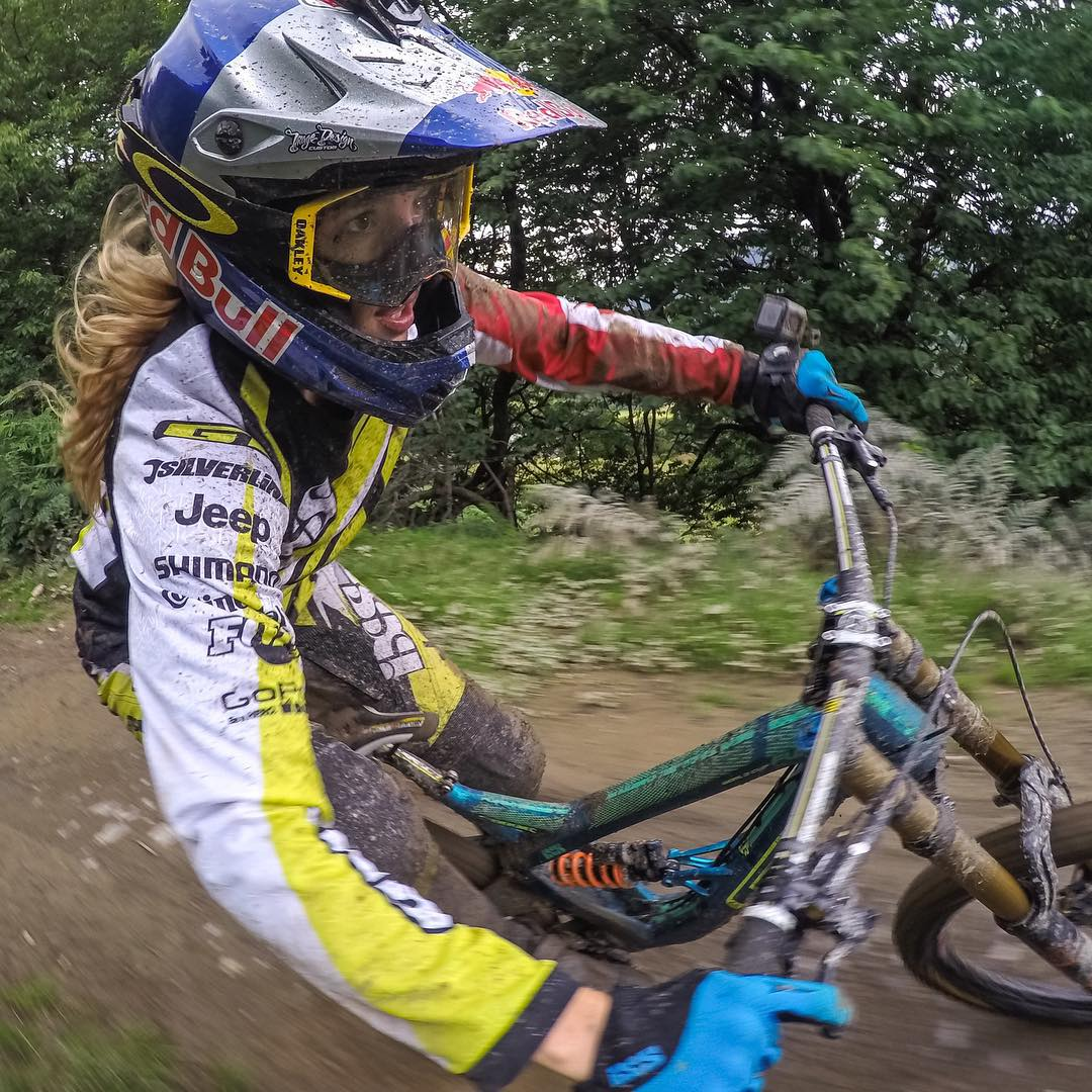 After a killer season, #GoPro athlete,@rachybox, takes home the @uci_cycling Downhill Championship today. Congrats, Rachel! #GoProGirl #vallnord2015