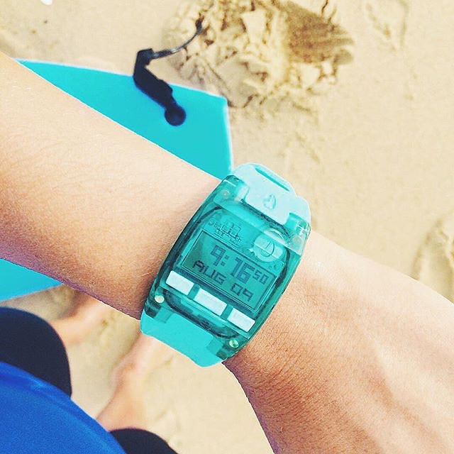 Thanks to @paulinegranieri for flying the #Nixon flag with this Comp S in light blue. Show us how you #NixonNow and you could be featured too. #LinkInProfile
