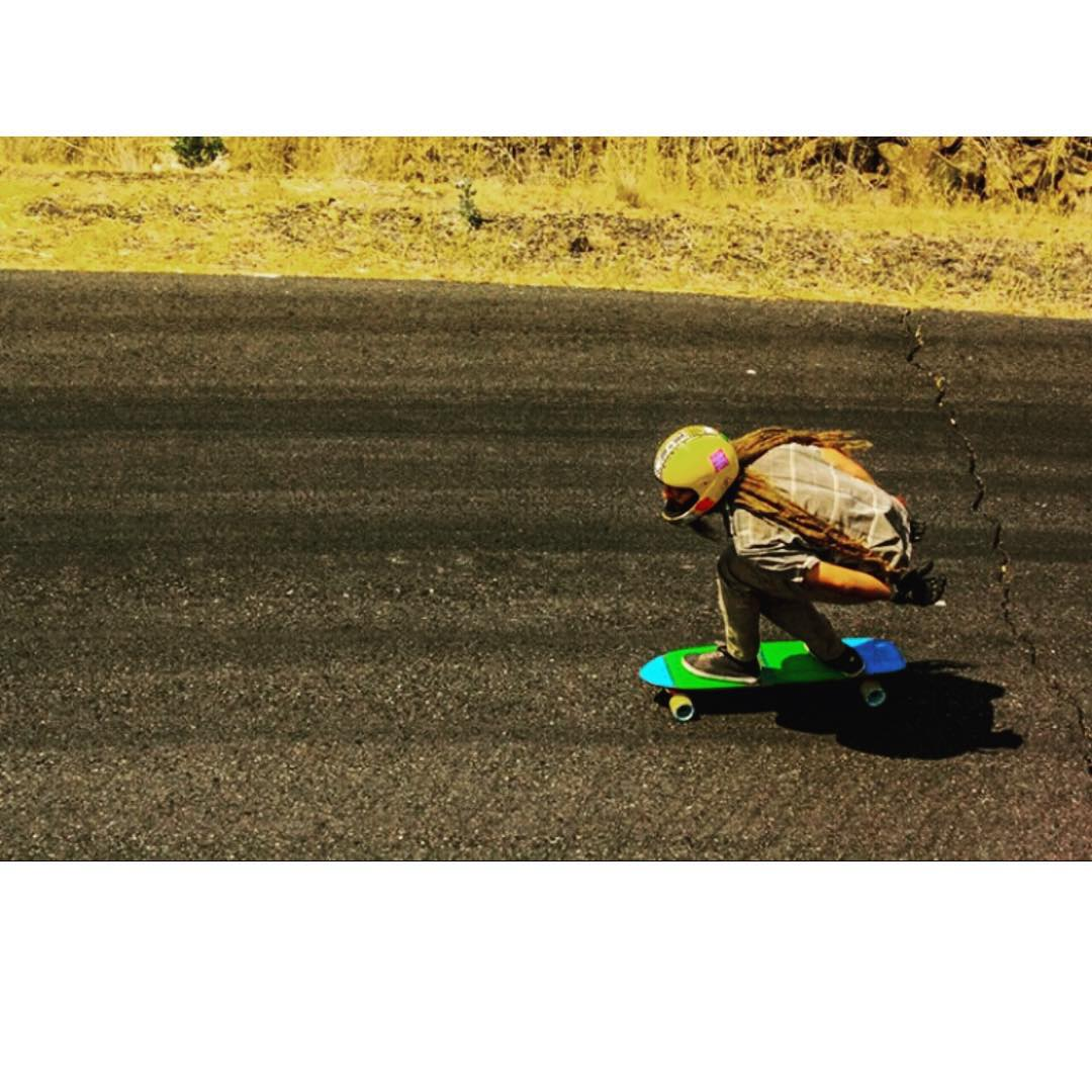 Team rider Adrian Da Kine--@adrian_da_kine finding lines on the hills of Mary.
